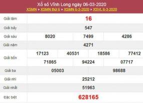 Soi cầu KQXS Vĩnh Long 13/3/2020 - Dự đoán KQXSVL thứ 6
